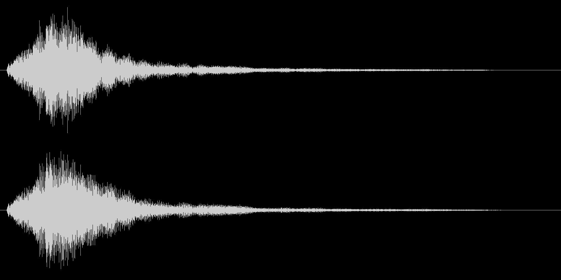 ハープグリッサンド上行1回~Bb7の未再生の波形