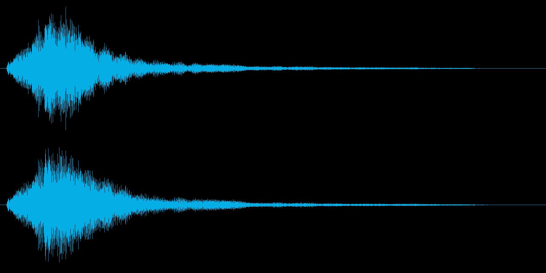 ハープグリッサンド上行1回~Bb7の再生済みの波形