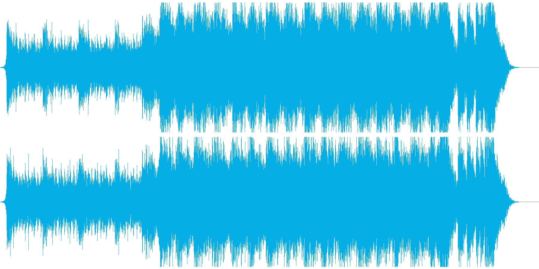 感動的で壮大な映画系エピックオーケストラの再生済みの波形