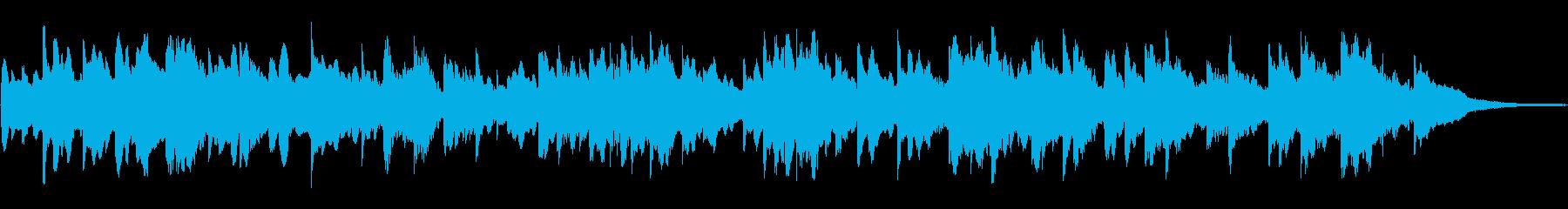 海をイメージしたヒーリングミュージックの再生済みの波形