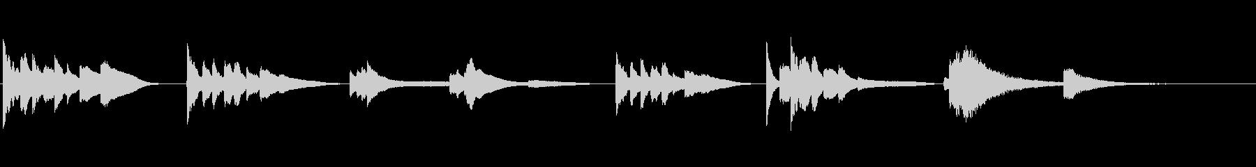 証言・朗読用~ほんわかとした短いピアノ~の未再生の波形