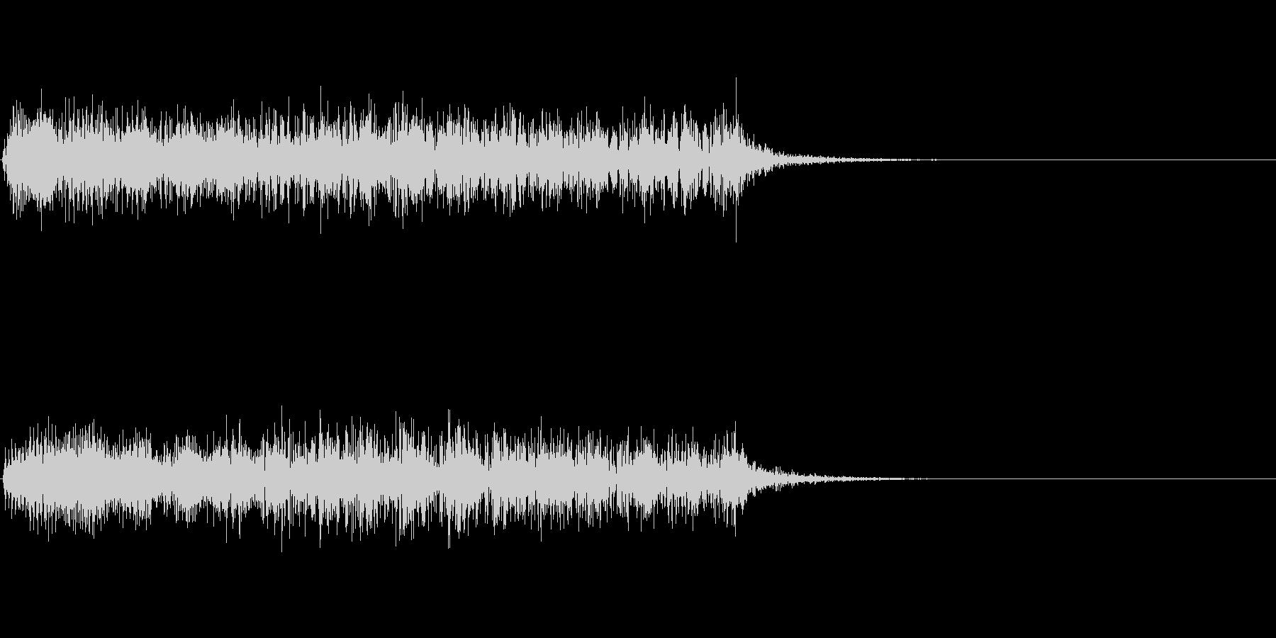 ロボットが壊れて停止するときの音 3の未再生の波形