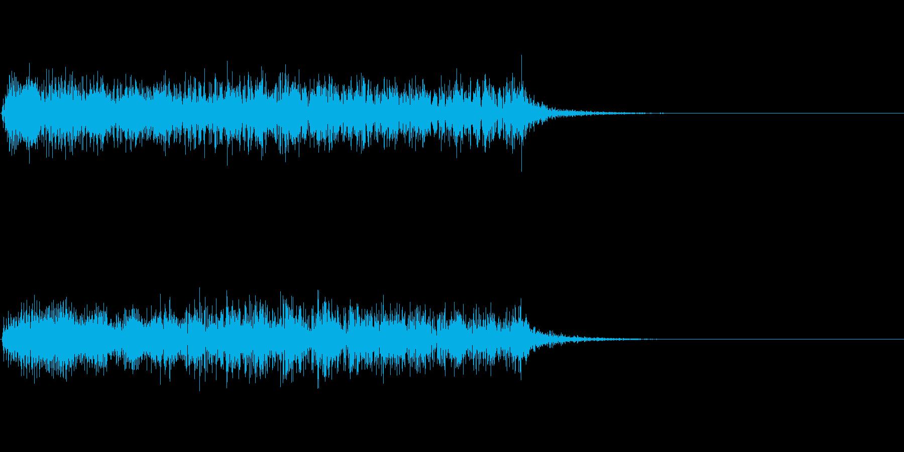 ロボットが壊れて停止するときの音 3の再生済みの波形