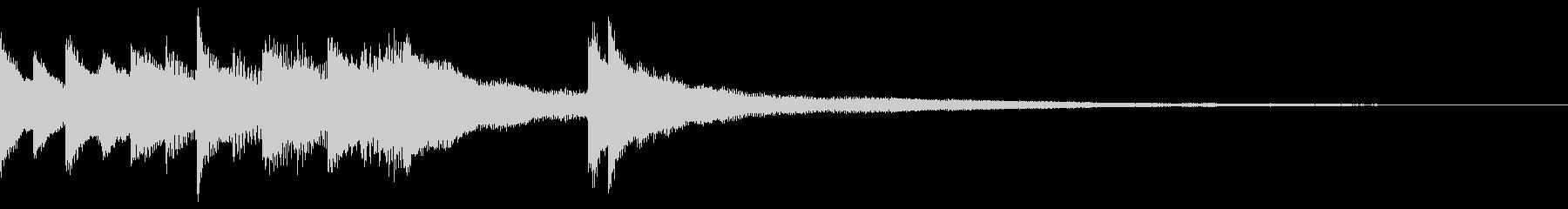しっとり大人な雰囲気のピアノジングルB2の未再生の波形