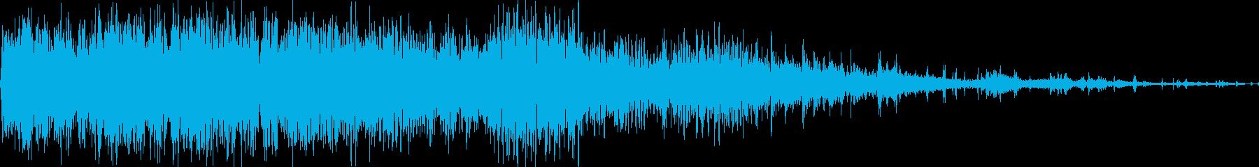 ドンドンパフパフの再生済みの波形
