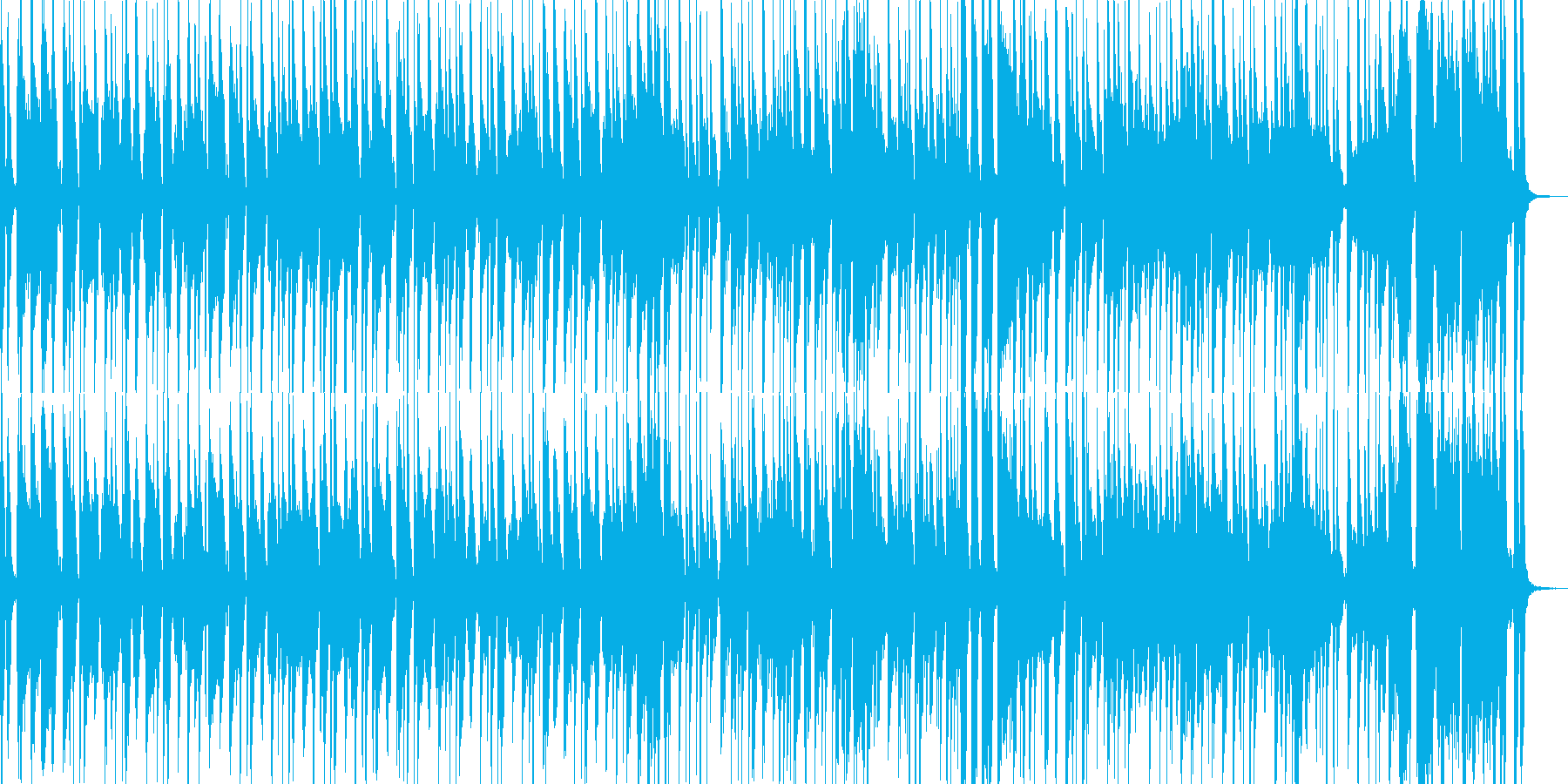 コミカルな旅風景の曲(和風)の再生済みの波形