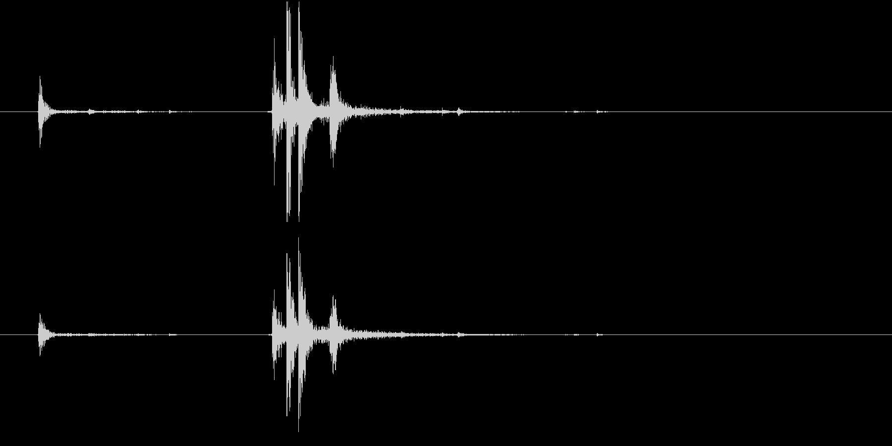【生録音】ハンガーの音 6 掛けるの未再生の波形