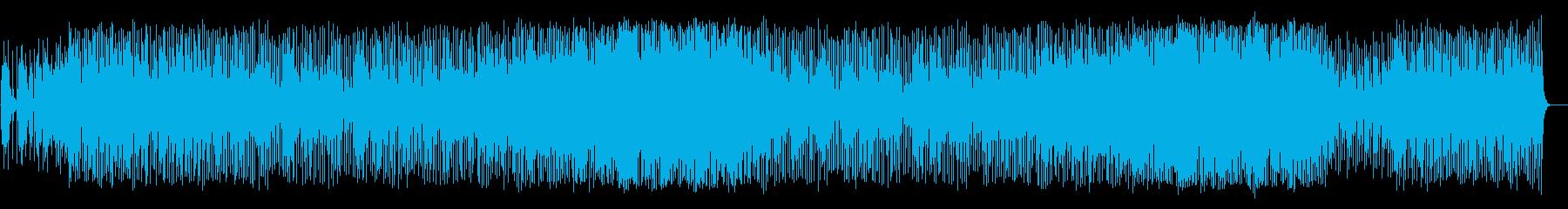 キラキラした変則高音のシンセサイザーの曲の再生済みの波形