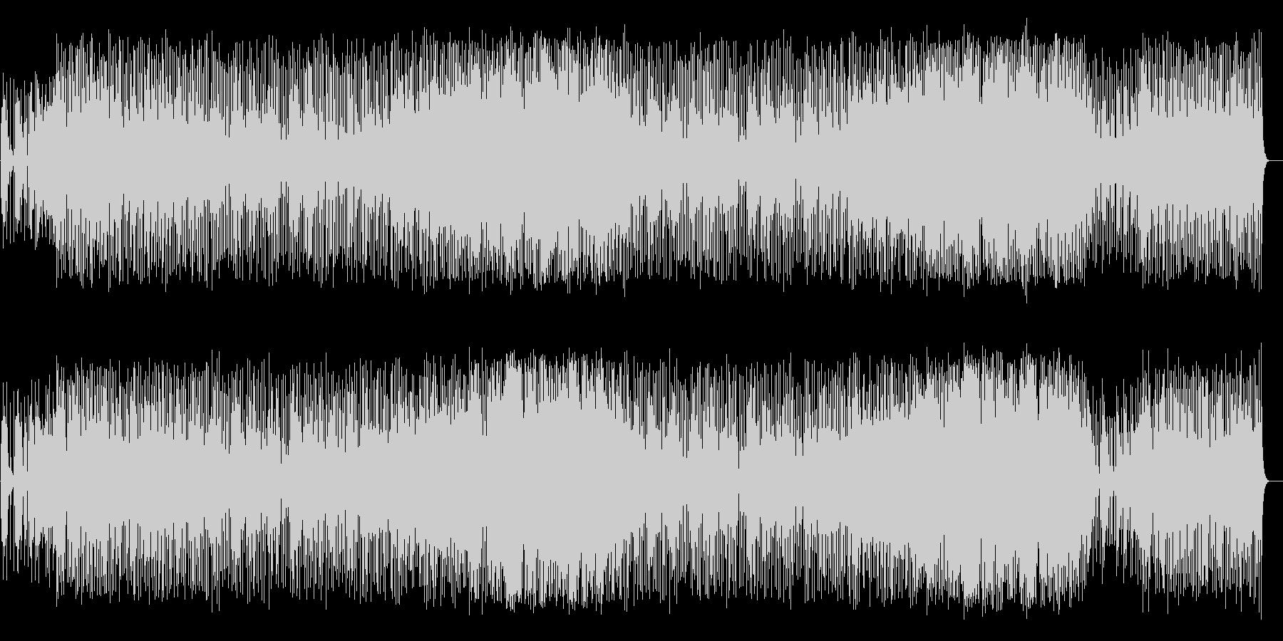 キラキラした変則高音のシンセサイザーの曲の未再生の波形