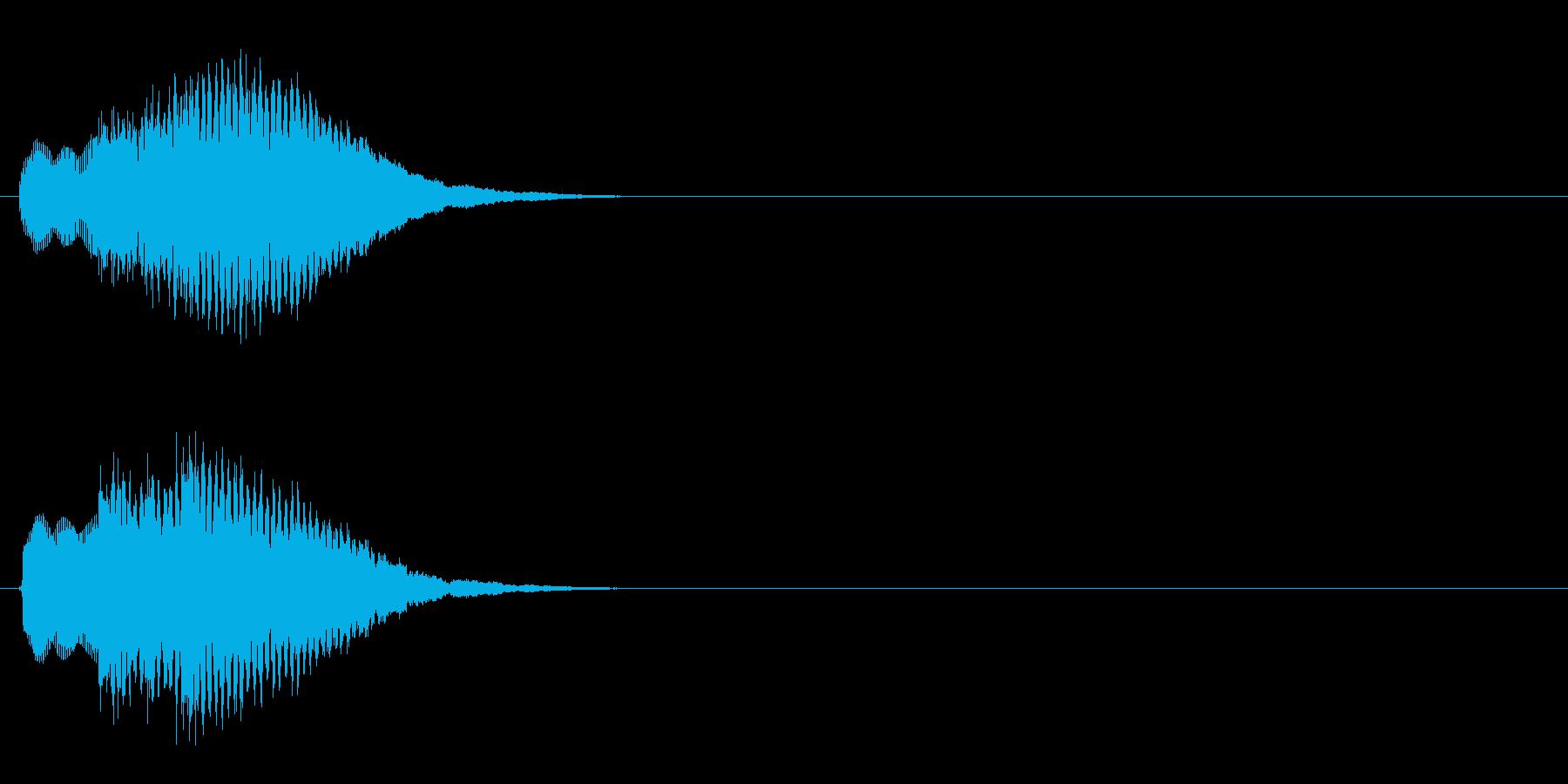 汎用 キラキラ系05(中) 決定音の再生済みの波形