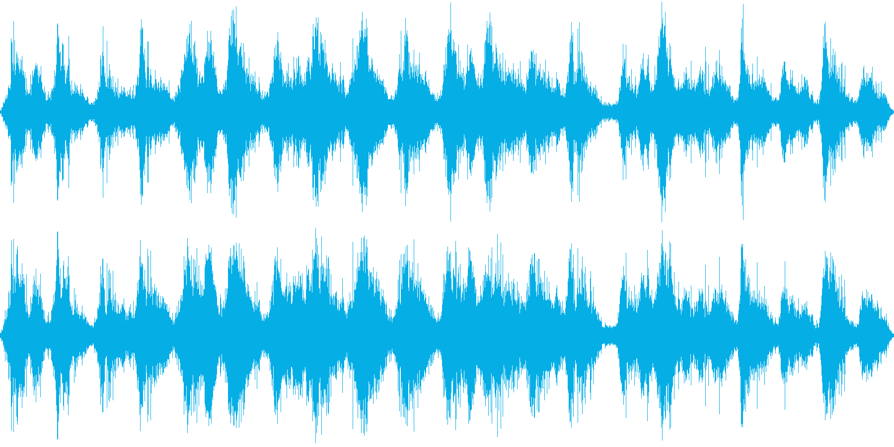 落ち葉の上を走るの再生済みの波形