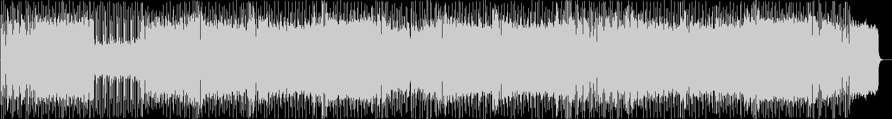 シンセリードが印象的な速いメタルBGMの未再生の波形