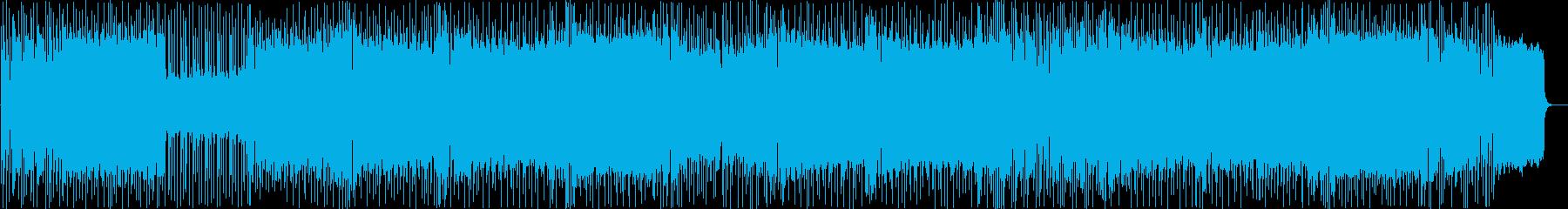 シンセリードが印象的な速いメタルBGMの再生済みの波形