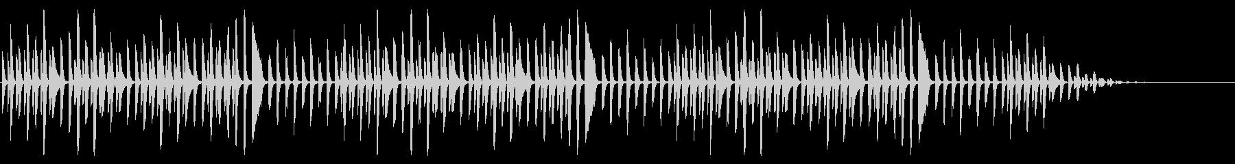ヨドバシカメラで有名な曲のピアノソロの未再生の波形