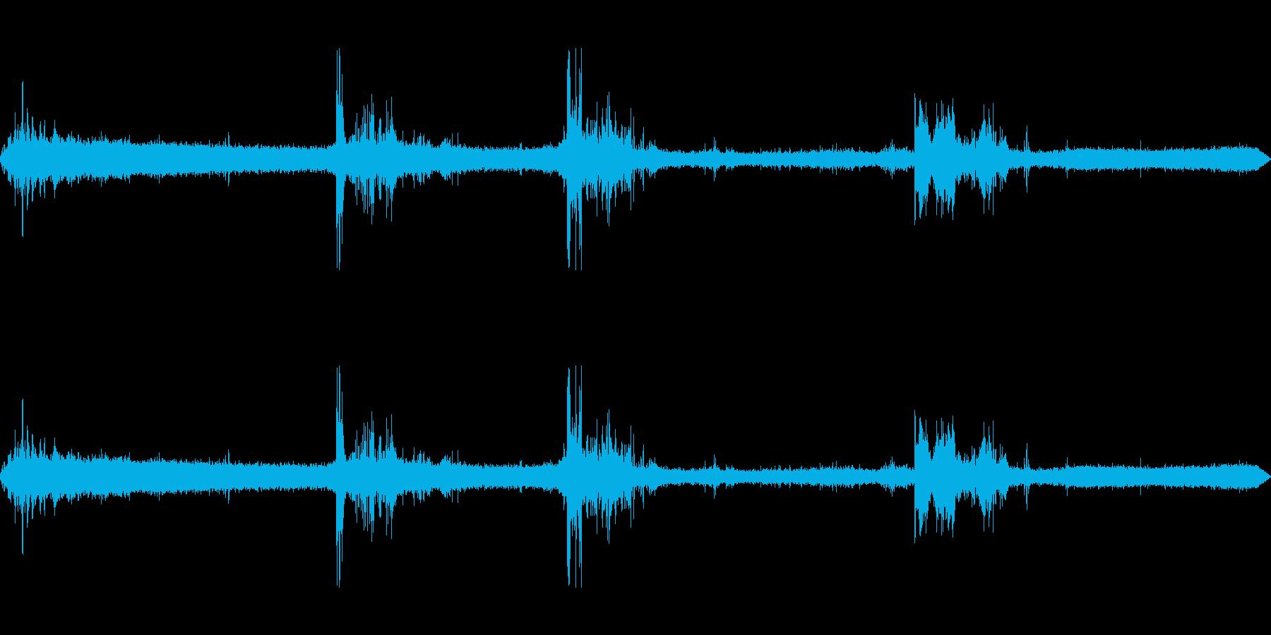 ザーザーゴロゴロの再生済みの波形