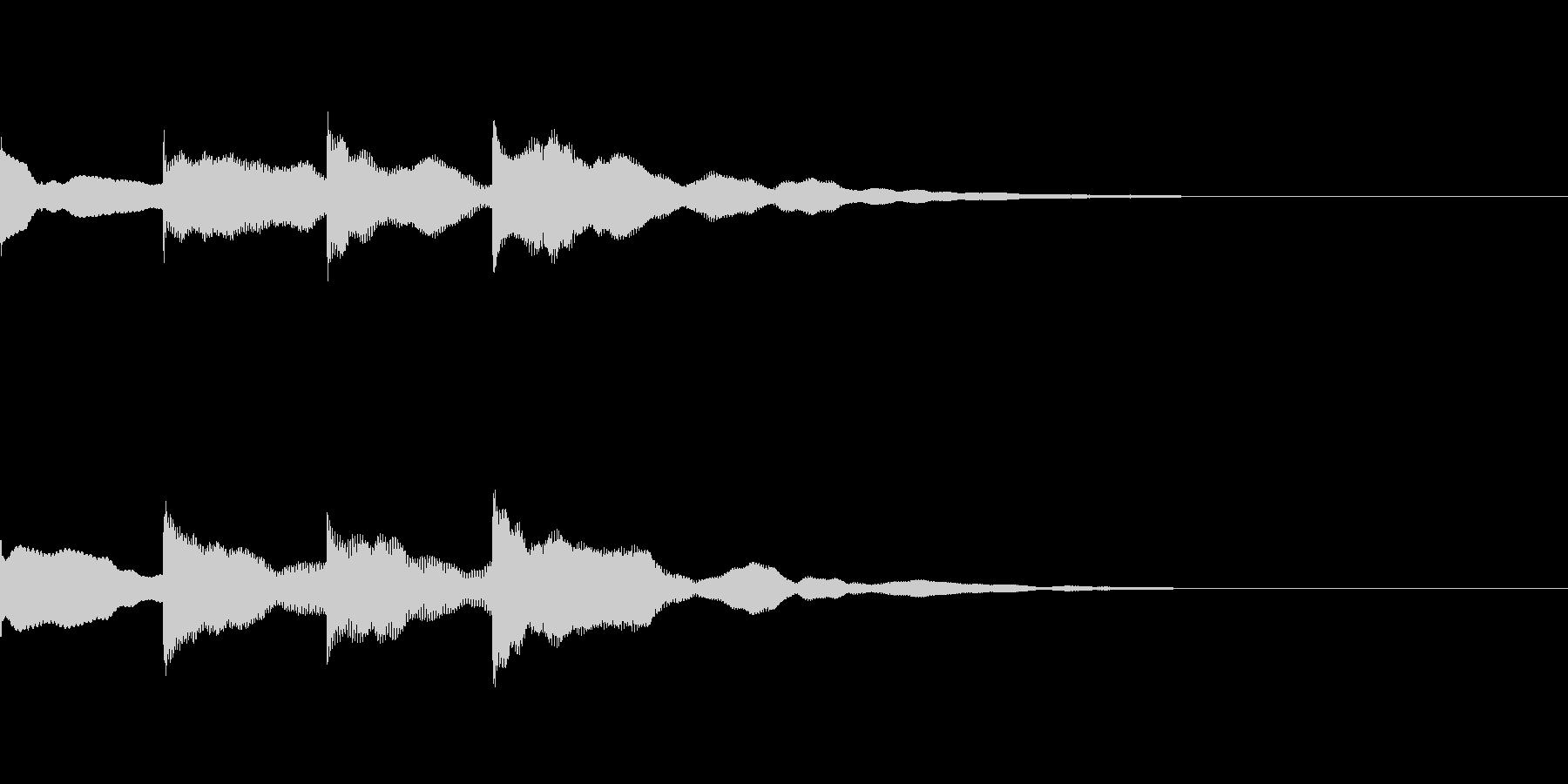 チャイム「ピンポンパンポーン」の未再生の波形