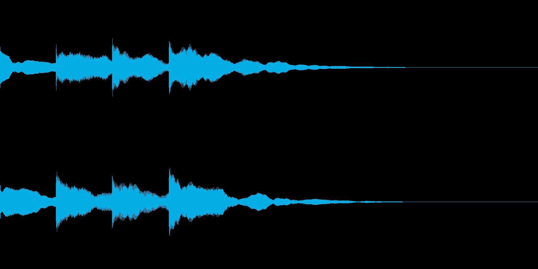 チャイム「ピンポンパンポーン」の再生済みの波形