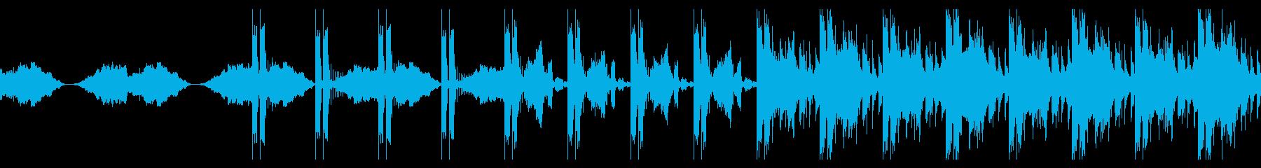 リズムメインのシネマティックエレクトロの再生済みの波形