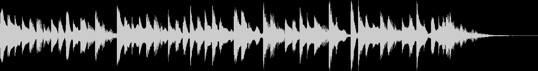 ラジオ ミニマルなジングルの未再生の波形