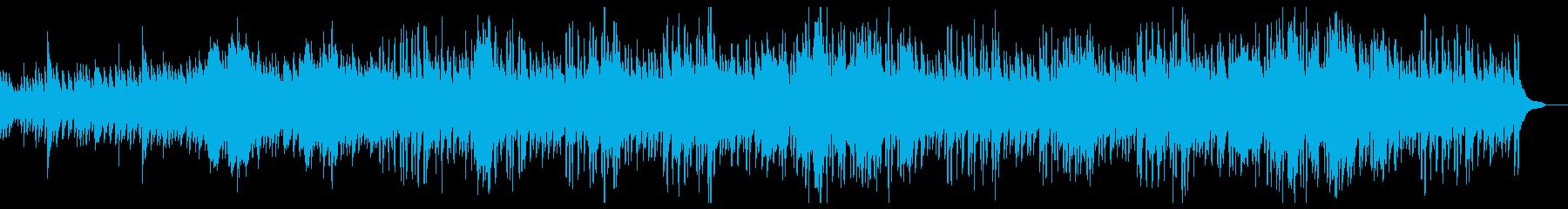 ピアニカのメロディーのほのぼのとした曲調の再生済みの波形