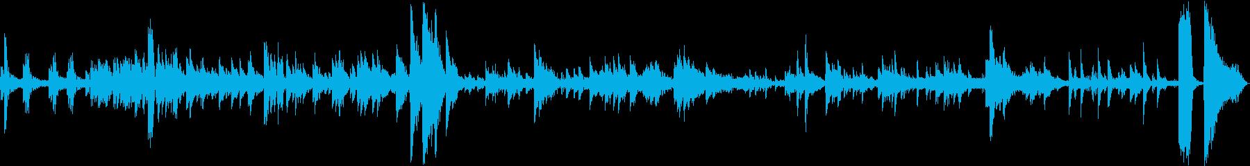 狂ったピアノのホラーの再生済みの波形