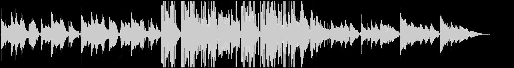 アコギとピアノのお洒落なジャズBGMの未再生の波形