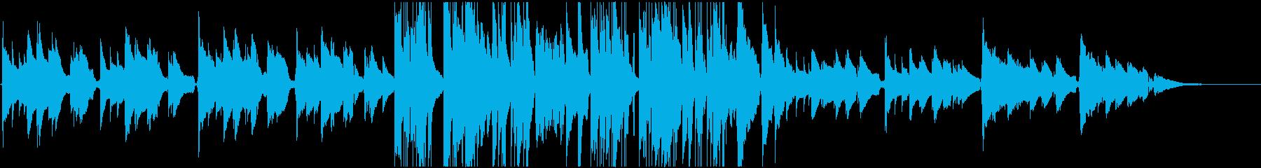 アコギとピアノのお洒落なジャズBGMの再生済みの波形