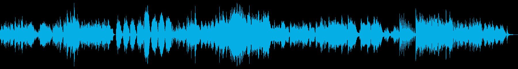水をイメージさせるゆったりした曲の再生済みの波形