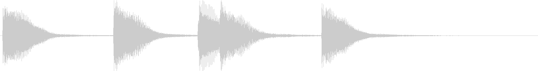 ピアノジングル 幼児向けアニメ系E-03の未再生の波形