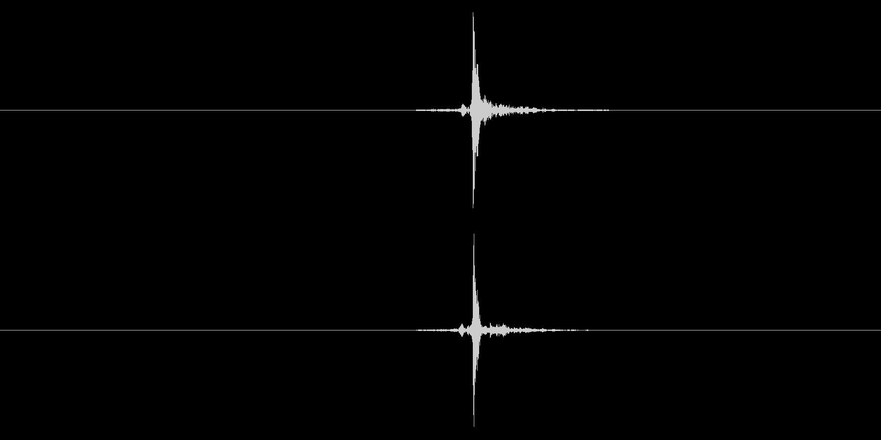 【録音】指パッチンの未再生の波形