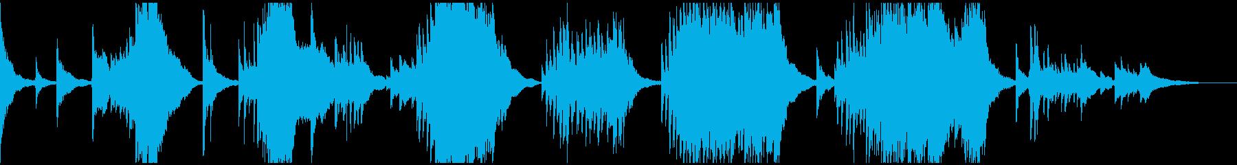 悲しく切ない旋律の即興ピアノの再生済みの波形