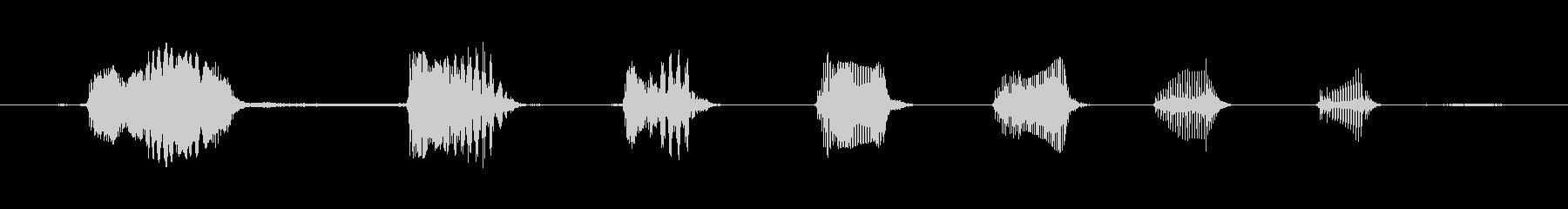 鳴き声 笑い意地悪04の未再生の波形