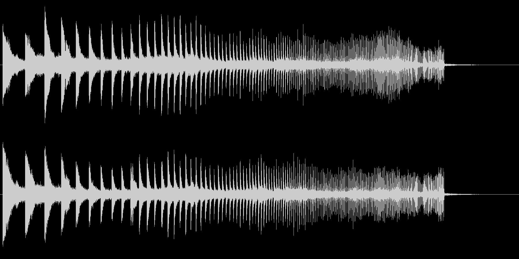 上昇 メタルヒット01の未再生の波形