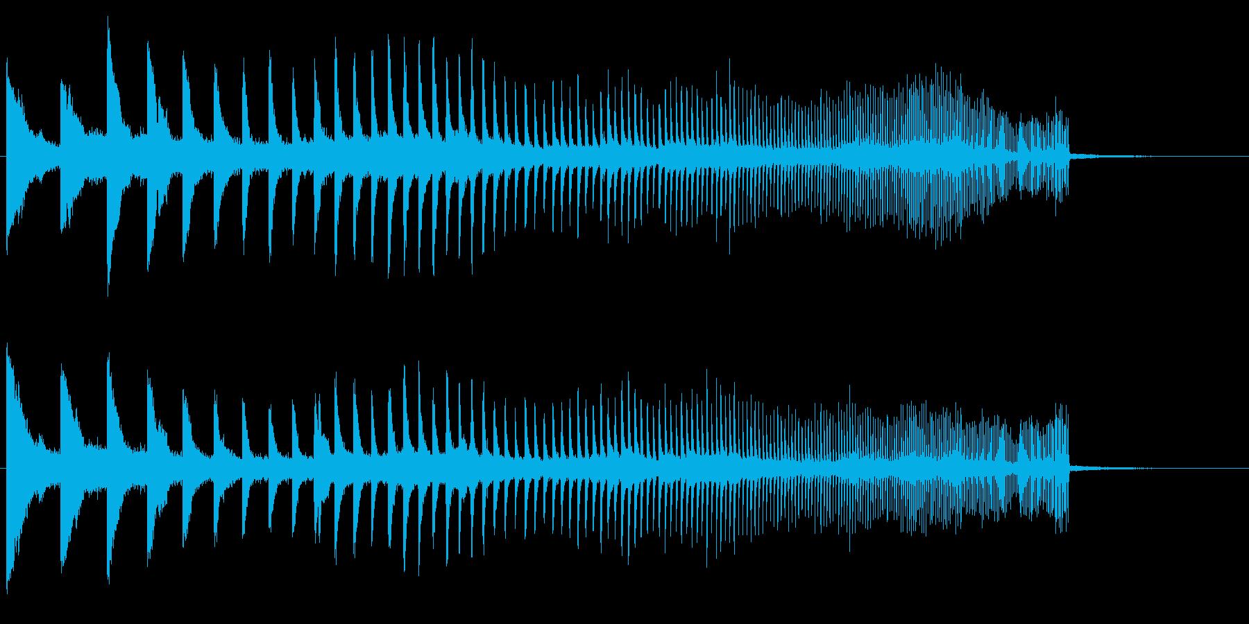 上昇 メタルヒット01の再生済みの波形