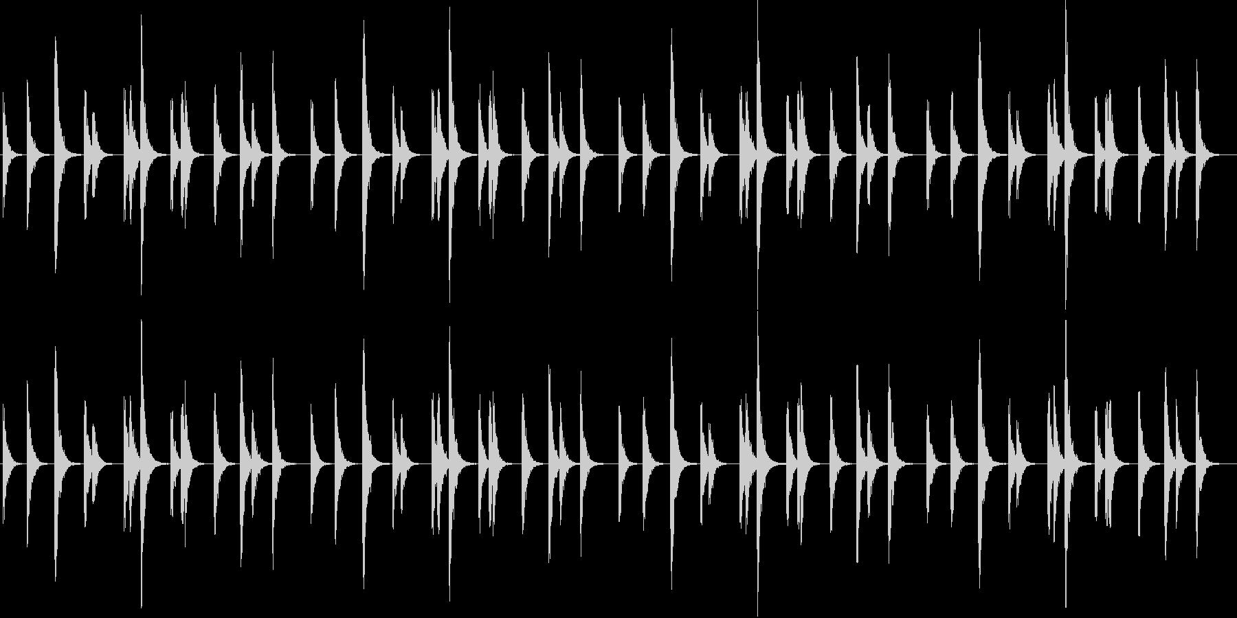エキゾチックな弦楽器のシンプルサウンドの未再生の波形