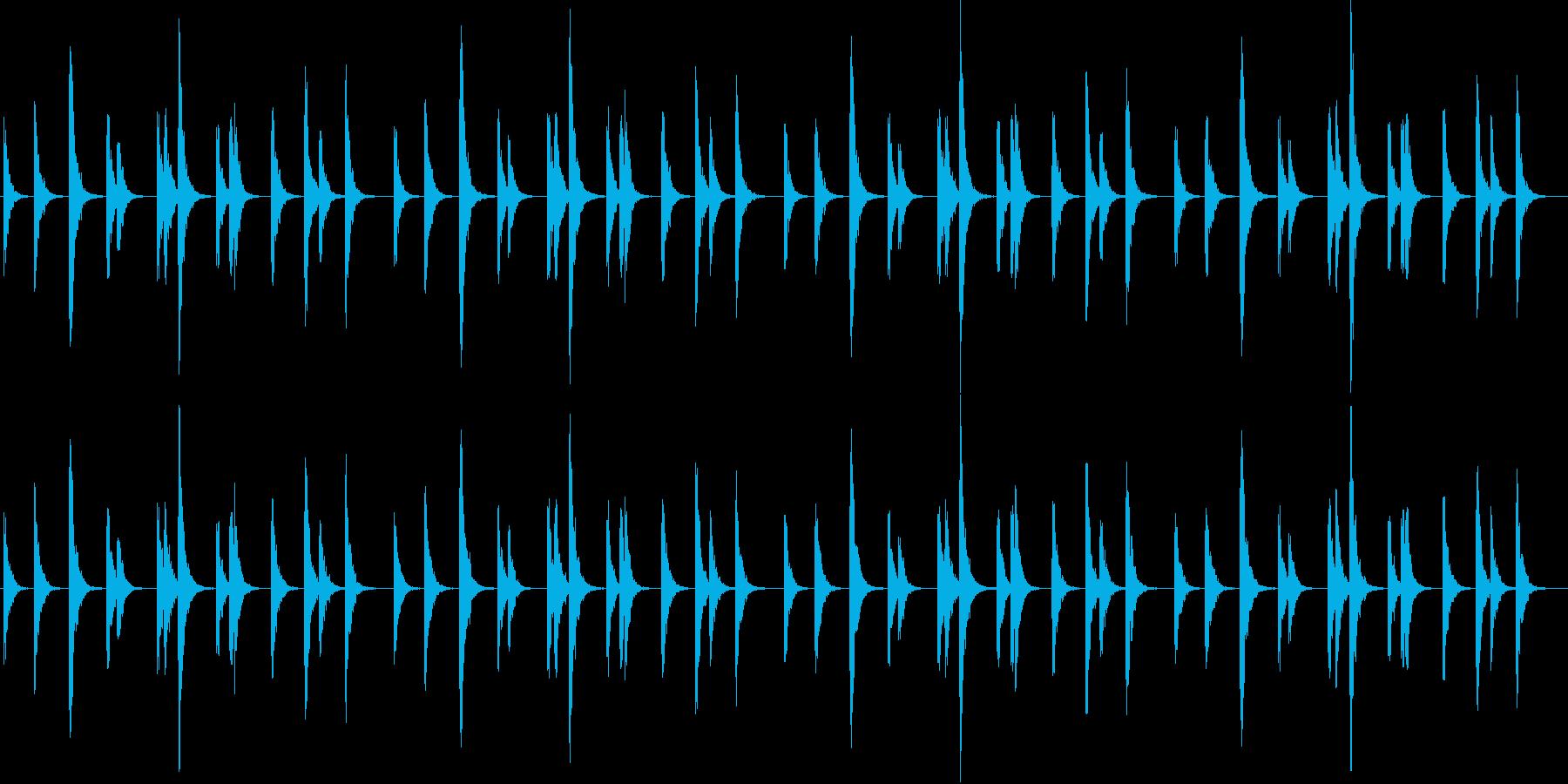 エキゾチックな弦楽器のシンプルサウンドの再生済みの波形
