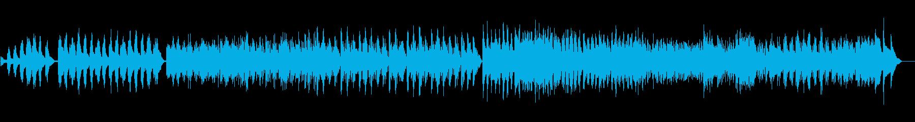 ハープのバロック風の力強い曲の再生済みの波形