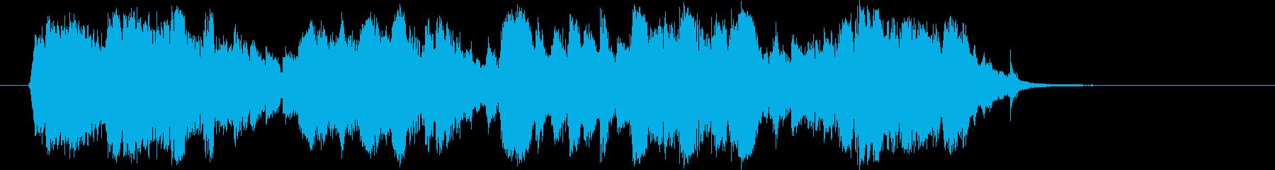 華麗でメロディアスなバイオリンジングルの再生済みの波形