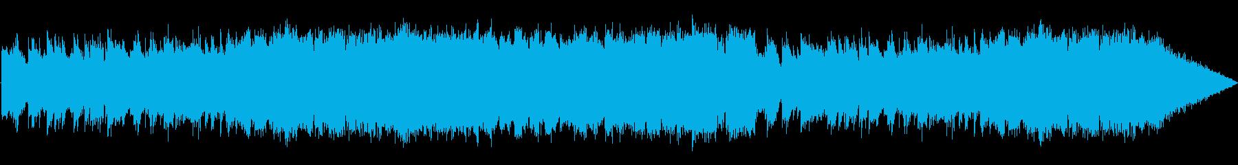 ひんやりとした洞窟の曲の再生済みの波形