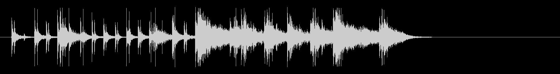 ファンキー&アップビートなリズムロゴの未再生の波形