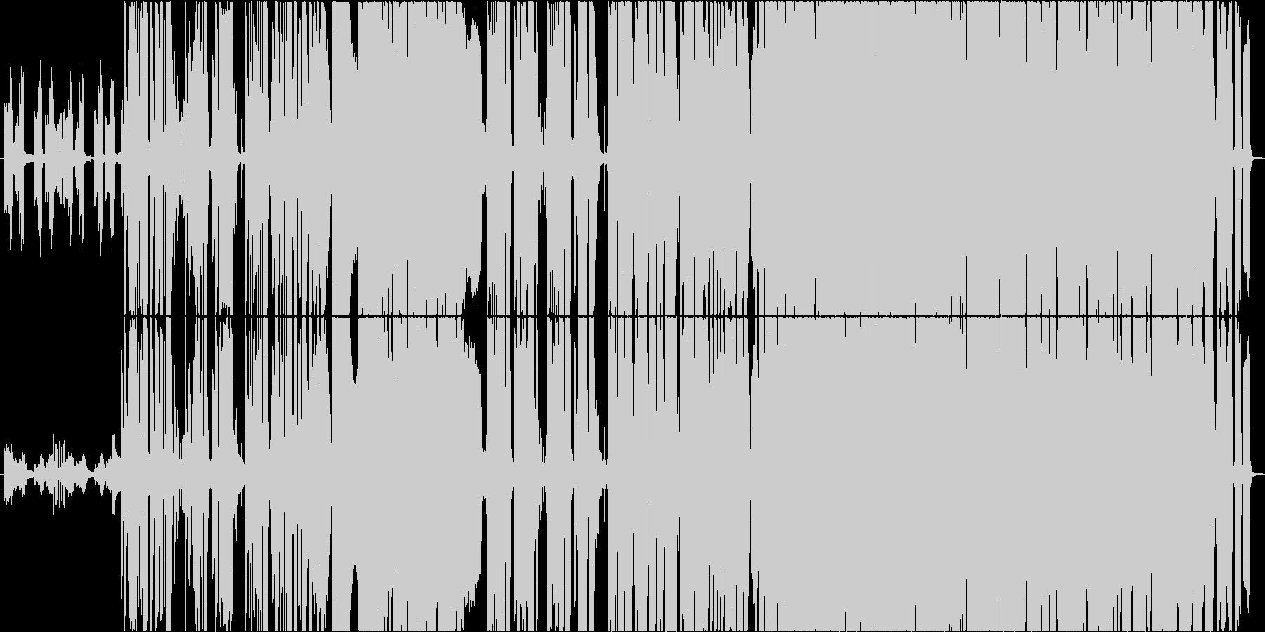明るい、前向きな、エモいギターロック曲の未再生の波形