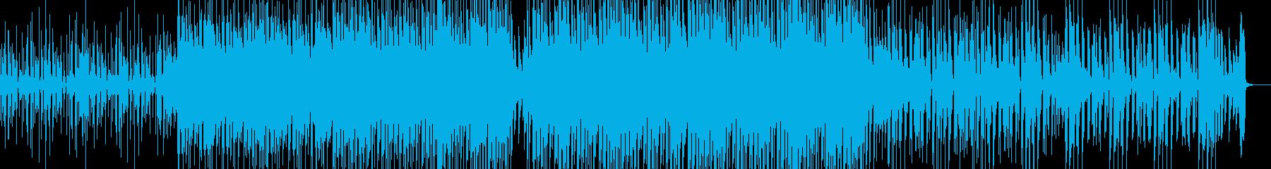Calm deep house's reproduced waveform