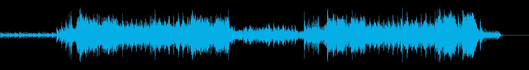 ハロウィンをイメージした不気味なワルツの再生済みの波形