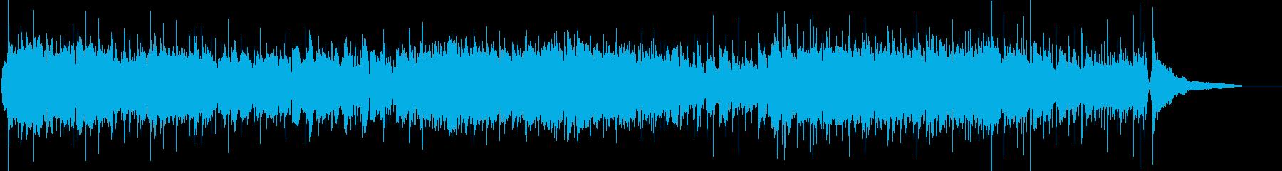 フルートがメインの明るいメロディの曲1の再生済みの波形