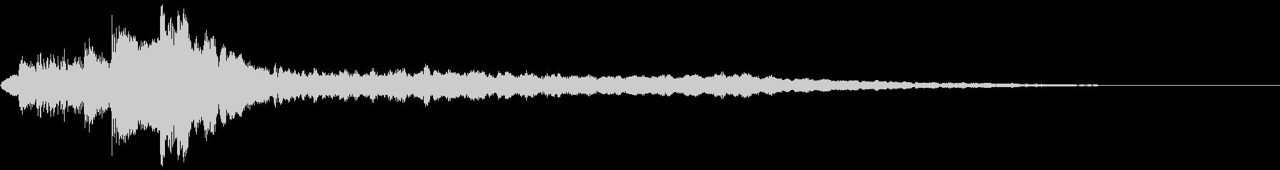 ローファイ・ドキュメンタル風ピアノfの未再生の波形