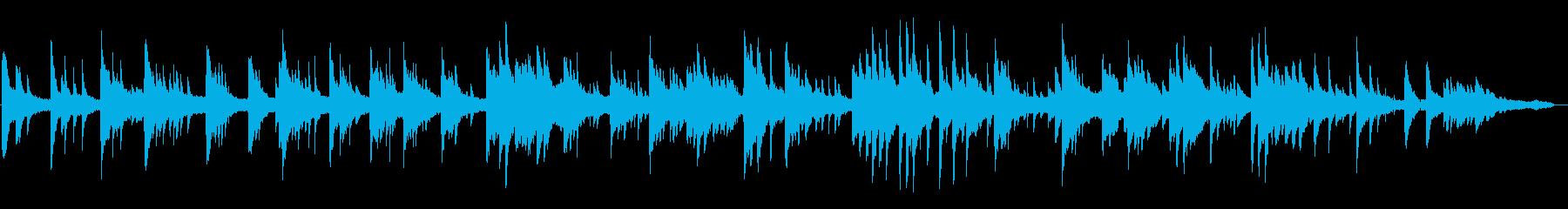 現代音楽、抽象的なピアノソロ暗いイメージの再生済みの波形