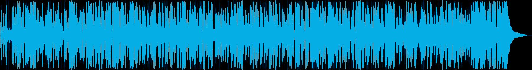 弾むようなボサノバミュージックの再生済みの波形