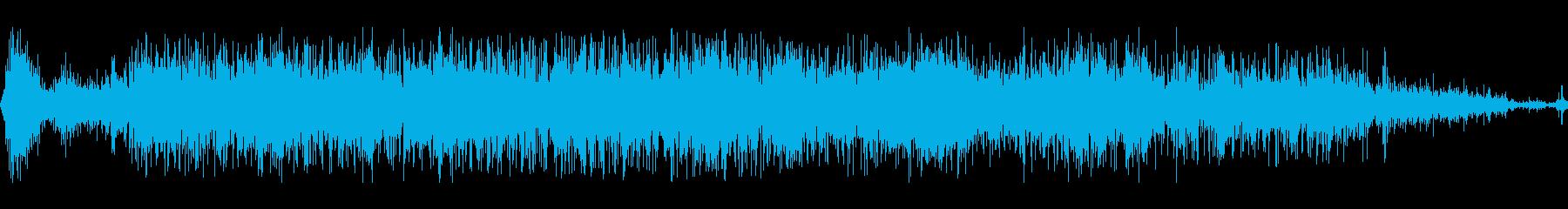ズザーッと押し戻される(足で踏ん張る)の再生済みの波形