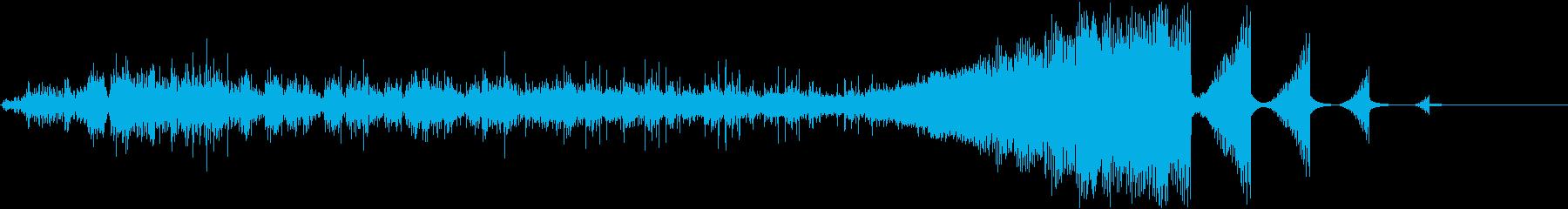 コンピュータの電子音、効果音 ピューンの再生済みの波形