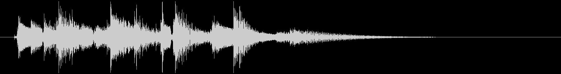ラグタイムギターによるジングルの未再生の波形